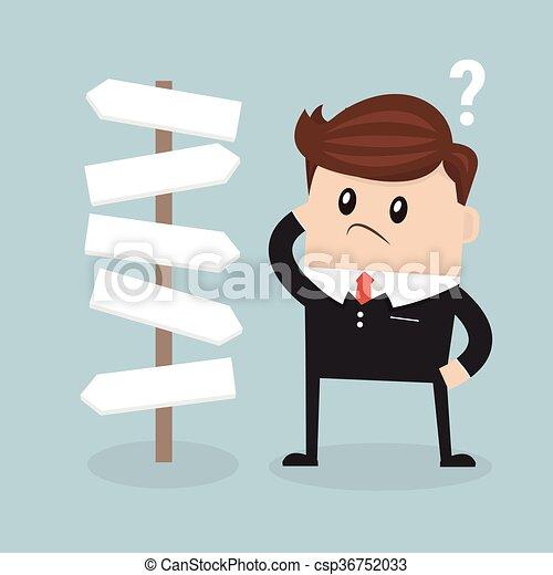 przód, biznesmen, wybór - csp36752033