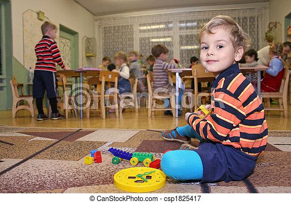 przedszkole, gra, dziecko - csp1825417