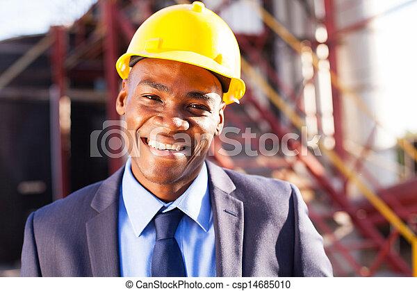 przemysłowe umieszczenie, afrykanin, inżynier - csp14685010