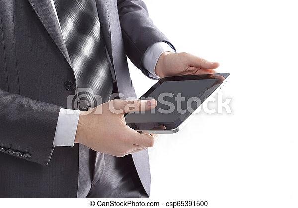 przestrzeń, fotografia, tabliczka, up.businessman, cyfrowy, zamknięcie, kopia - csp65391500