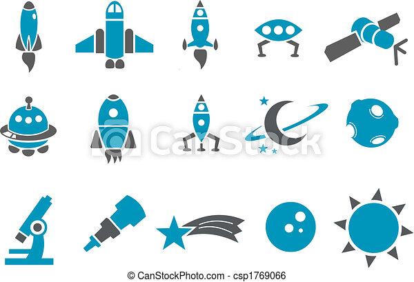 przestrzeń, komplet, ikona - csp1769066