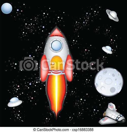 przestrzeń rakieta - csp16883388