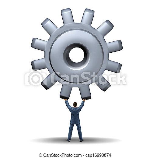 przewodnictwo, potężny, handlowy - csp16990874
