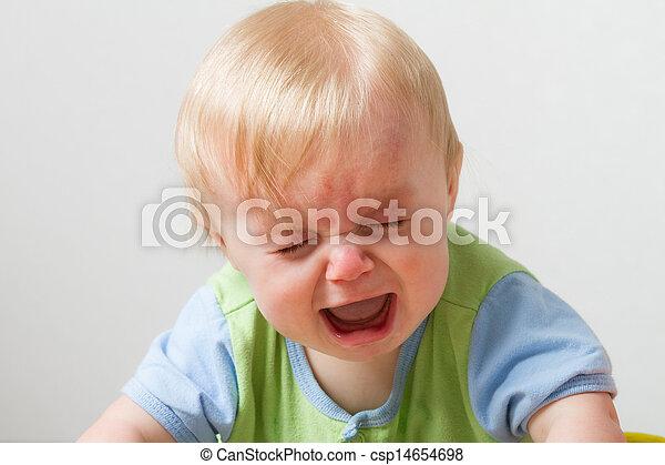 przewrócić, mały, jakiś, facet, emocje - csp14654698
