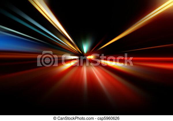 przyśpieszenie, ruch, abstrakcyjny, szybkość, noc - csp5960626