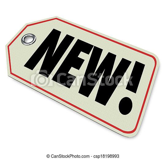 przybycie, produkt, newest, transakcja, wycenić skuwkę, towar, nowy, szczególny - csp18198993