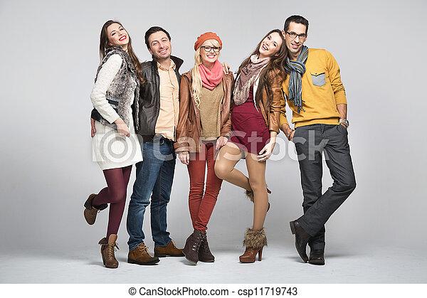 przyjaciele, fason, obraz, styl - csp11719743