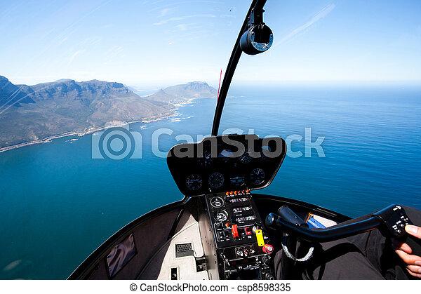 przylądek, przybrzeżny, prospekt, antena, miasto, piękny - csp8598335