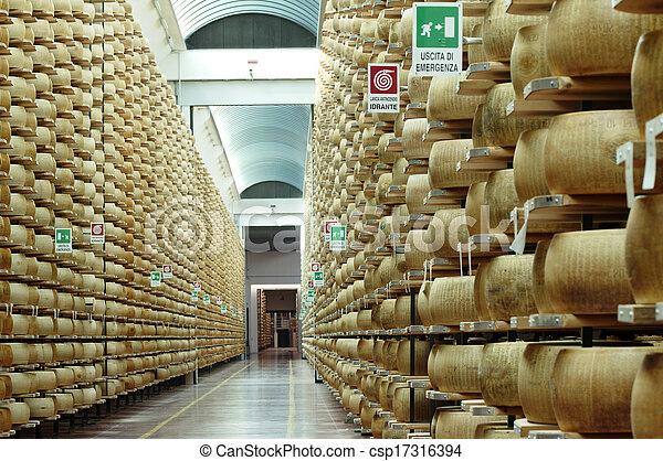 przyprawa, ser, pień, parmezański - csp17316394