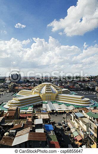 psar thmei central market in phnom penh cambodia - csp6855647