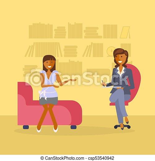 Mujer en una recepción psicóloga - csp53540942