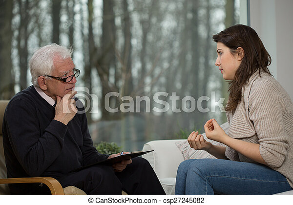 psicológico, aconselhar, usos, mulheres - csp27245082