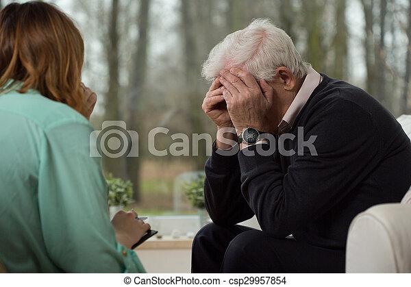 psicológico, durante, desespero, terapia, homem - csp29957854