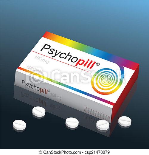 psicopatico, pillola - csp21478079