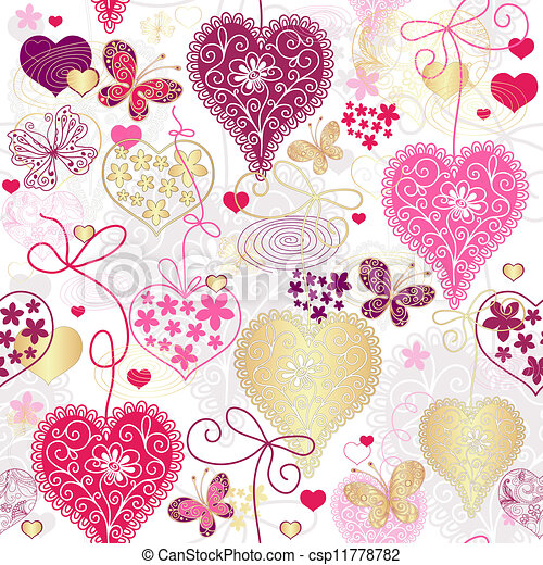 pstry, próbka, seamless, valentine - csp11778782