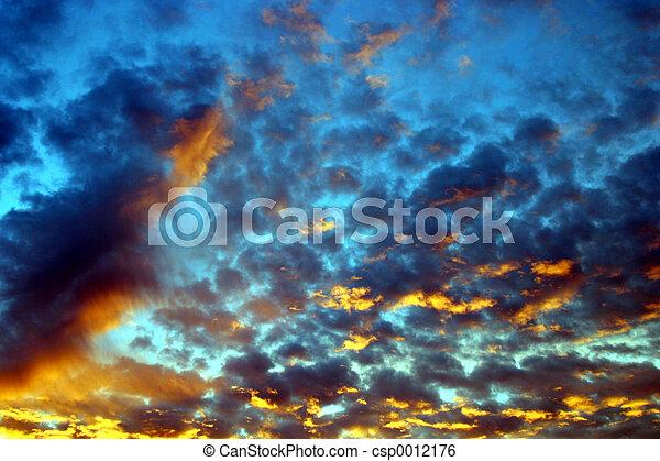 psychadelic, sky, #1 - csp0012176