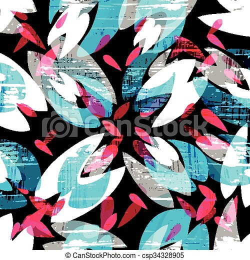 psychedelic colored graffiti pattern vector illustration - csp34328905