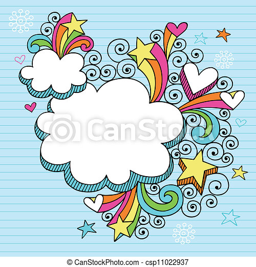 Psychedelic Groovy Cloud Frame - csp11022937