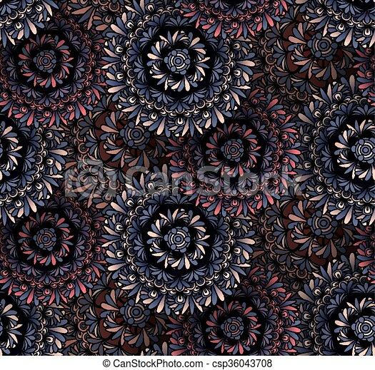 Psychedelic mandala seamless pattern - csp36043708