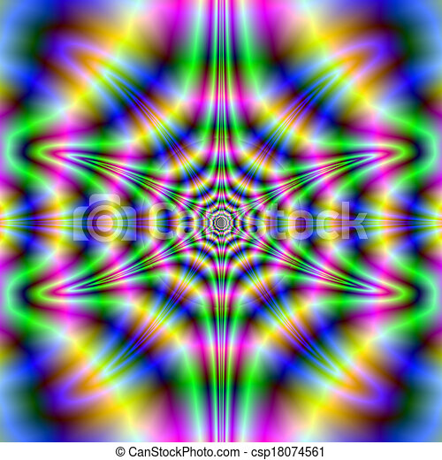 Psychedelic Neon Abstract