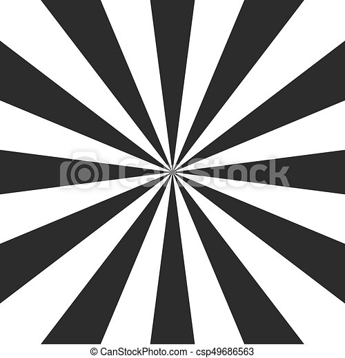 Psychedelic spiral with radial gray rays. Swirl twisted retro background. Comic effect vector illustration - csp49686563