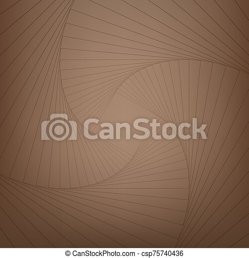 Psychedelic spiral with radial gray rays. Swirl twisted retro background. - csp75740436