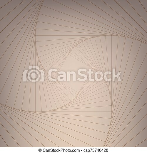 Psychedelic spiral with radial gray rays. Swirl twisted retro background. - csp75740428