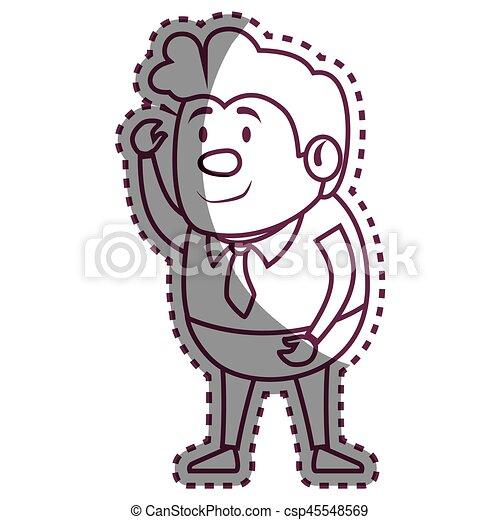 Psychiatric patient avatar character - csp45548569