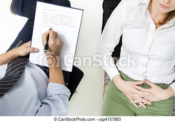 psychiatrist with patient - csp4157883