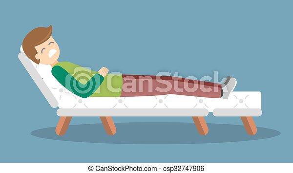 Psychologist office cabinet room vector illustration - csp32747906