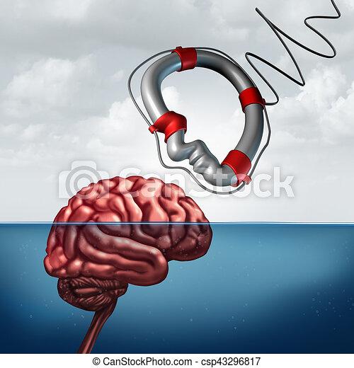 Psychology giving Help Concept - csp43296817