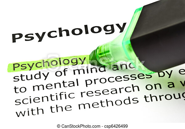 'Psychology' highlighted in green - csp6426499