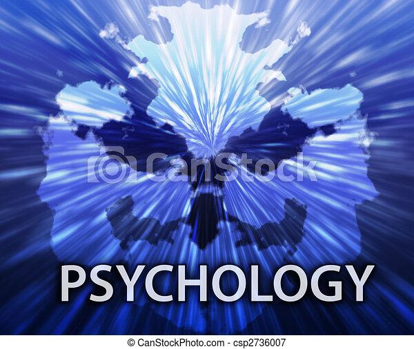 Psychology inkblot background - csp2736007