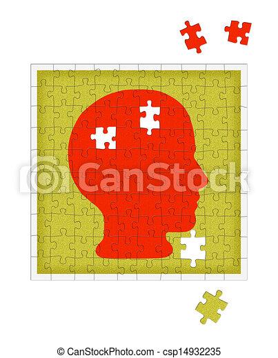 Psychology metaphor - mental health disorder, psychiatry etc - csp14932235