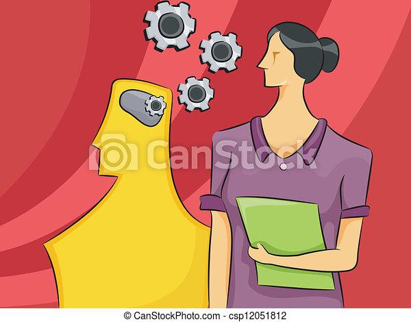 Psychology Woman - csp12051812