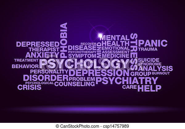 psychology word cloud - csp14757989