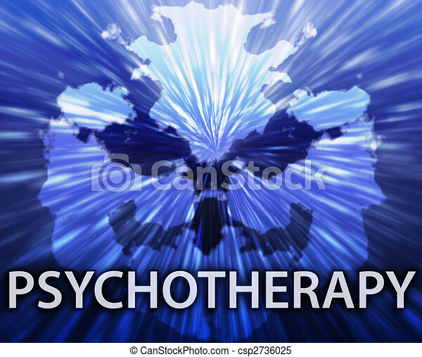 Psychotherapy inkblot background - csp2736025
