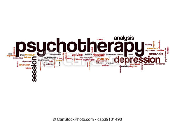Psychotherapy word cloud concept - csp39101490