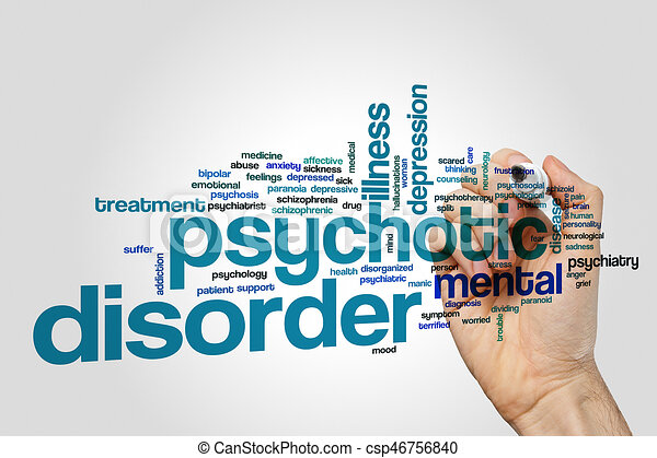 psychotic disorder word cloud concept psychotic disorder word cloud