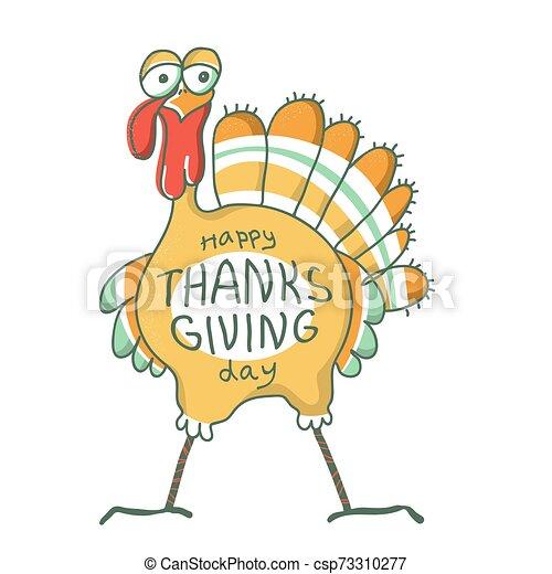 ptak, dziękczynienie, day., holiday., szczęśliwy, indyk - csp73310277