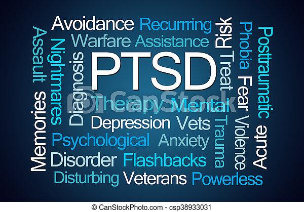 PTSD Word Cloud - csp38933031