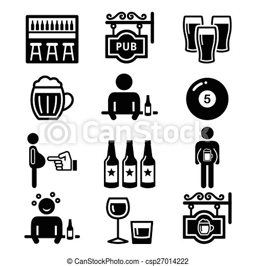 pub, alcool, birra, bere, pancia - csp27014222