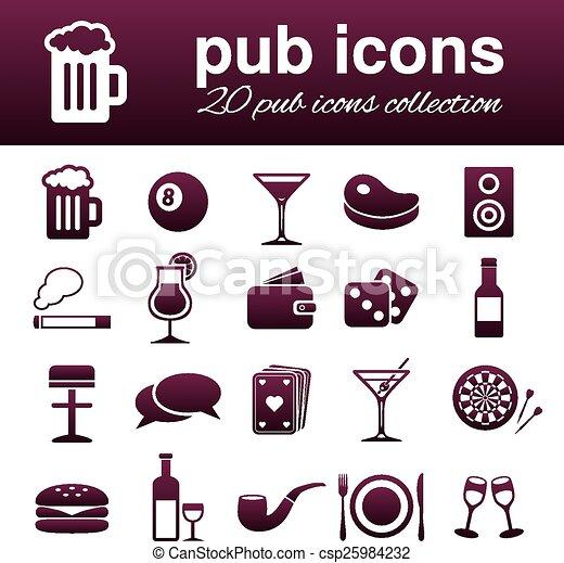 pub, icone - csp25984232