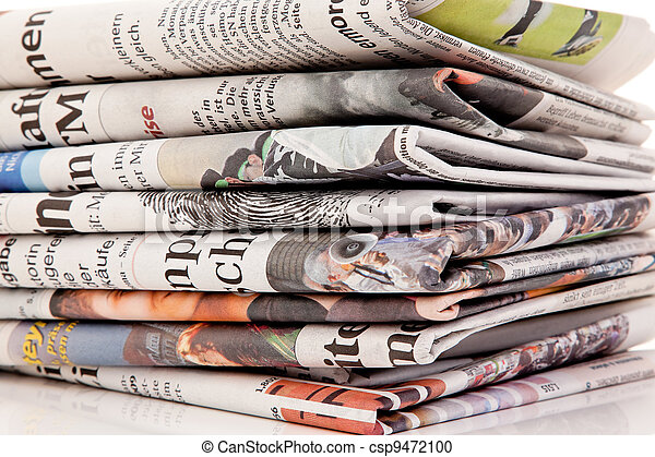 pubblicazione periodica, giornali, vecchio, accatastare - csp9472100