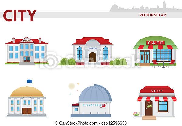 Public building. Set 2.  - csp12536650