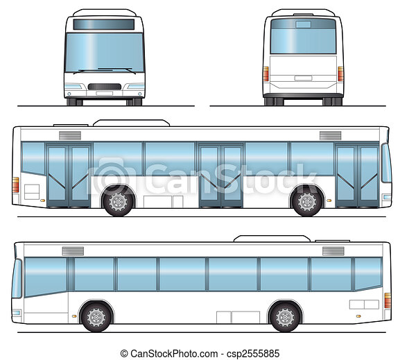 Public Bus Template Layout For Presentation