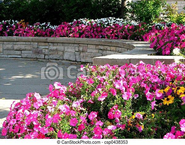 Public Flower Garden - csp0438353