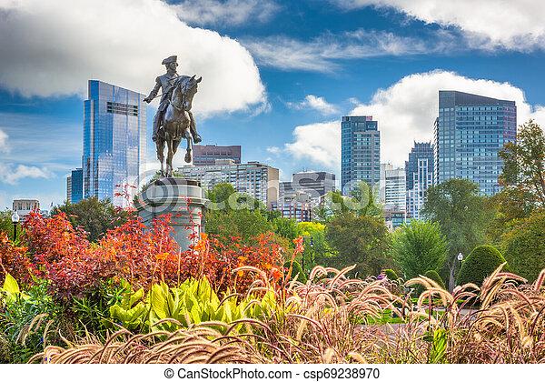 Public Garden in Boston, Massachusetts - csp69238970