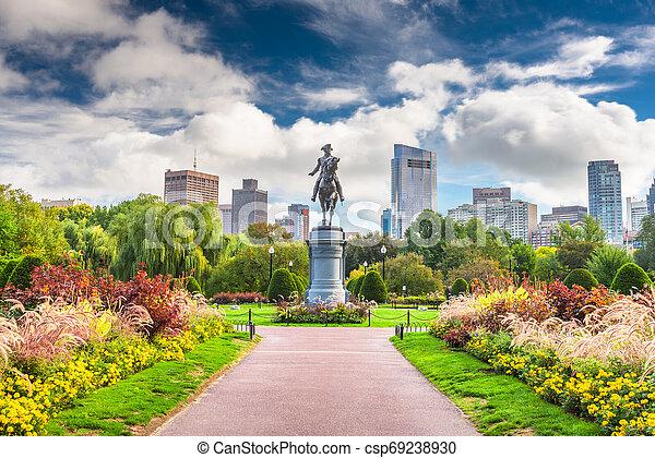 Public Garden in Boston, Massachusetts - csp69238930