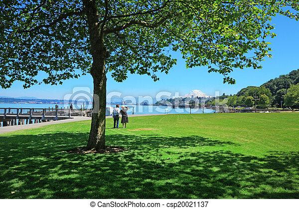 Public park, Tacoma, WA - csp20021137